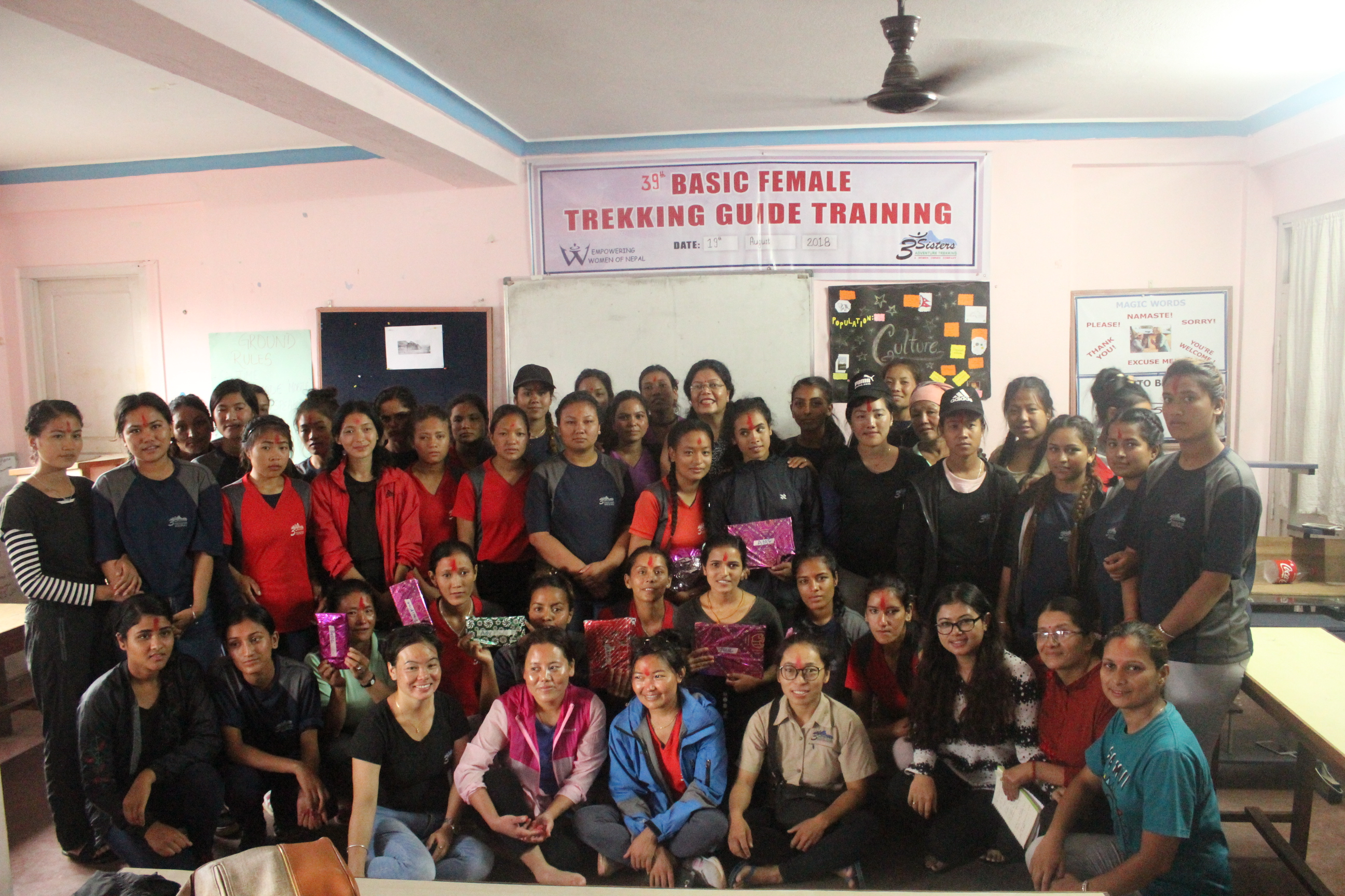 Closing Ceremony of Female Trekking Guide Training 2018